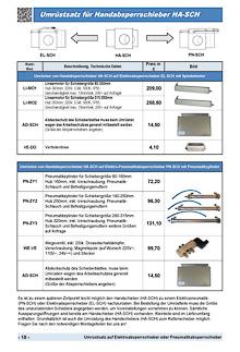 Umrüstsatz auf Elektroabsperrschieber oder Pneumatikabsperrschieber