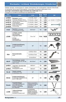 Dübel, Lochband, Rohrschellenhalter, Gewindestange, Langmutter, Parallel-Verbinder, Schallschutzaufhängung, Trapezblechhänger, Luftkanal-Befestiger