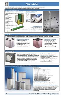 Filterschläuche, Filtertaschen, Entstaubungs Filterpatronen