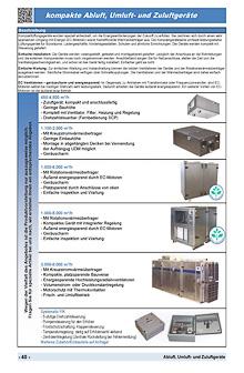 kompakte Abluft, Umluft- und Zuluftgeräte