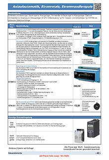 Anlaufautomatik, Stromrelais, Stromwandlerspule