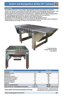 Schleif und Montagetisch Airfiner SP-1 (fahrbar)