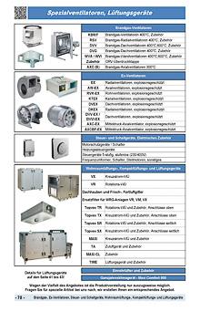 Brandgas, Ex-Ventilatoren, Steuer und Schaltgeräte, Wohnraumlüftungs, Kompaktlüftungs und Lüftungsgeräte