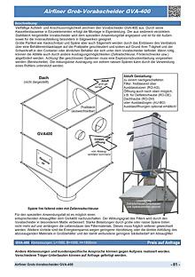 Airfiner Grob-Vorabscheider