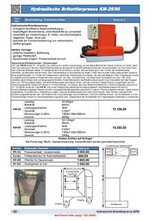 Hydraulische Brikettierpresse KM25 und KM50